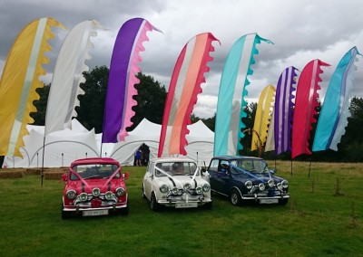 Wedding Flags and Mini Cars