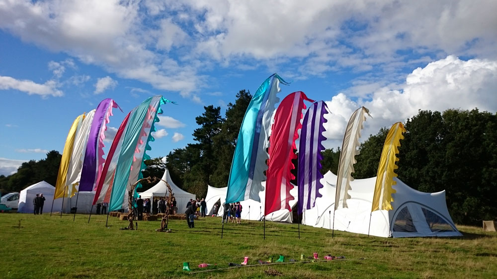 Festival Flags flying high on your big day